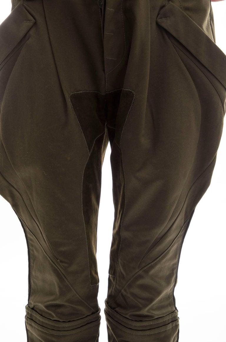 Nicolas Ghesquière for Balenciaga Runway Cotton Suede Pants, Fall 2007 For Sale 7