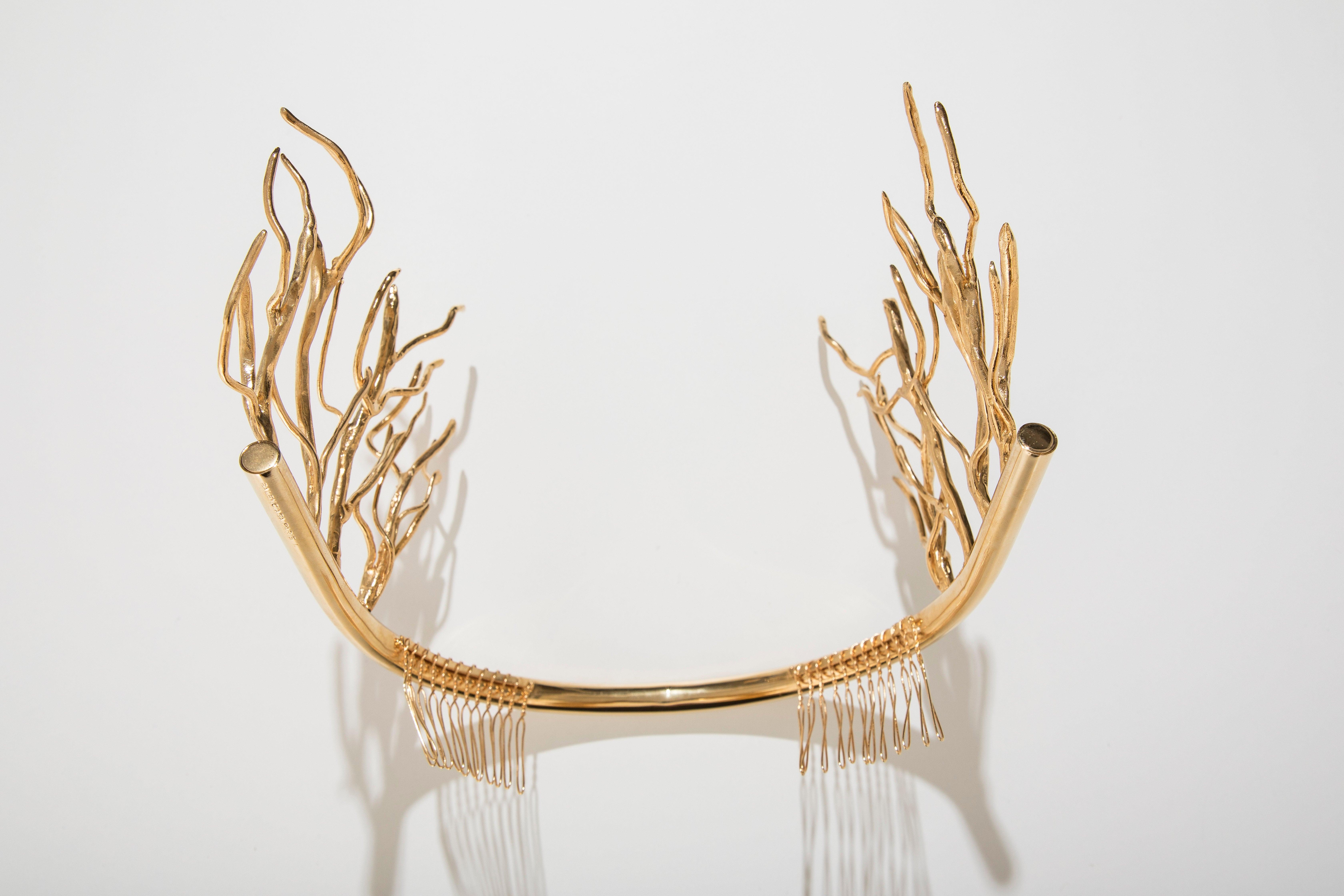 100% de calidad Precio pagable tienda de descuento Nicolas Ghesquiere For Balenciaga Runway Gold Sculptural ...