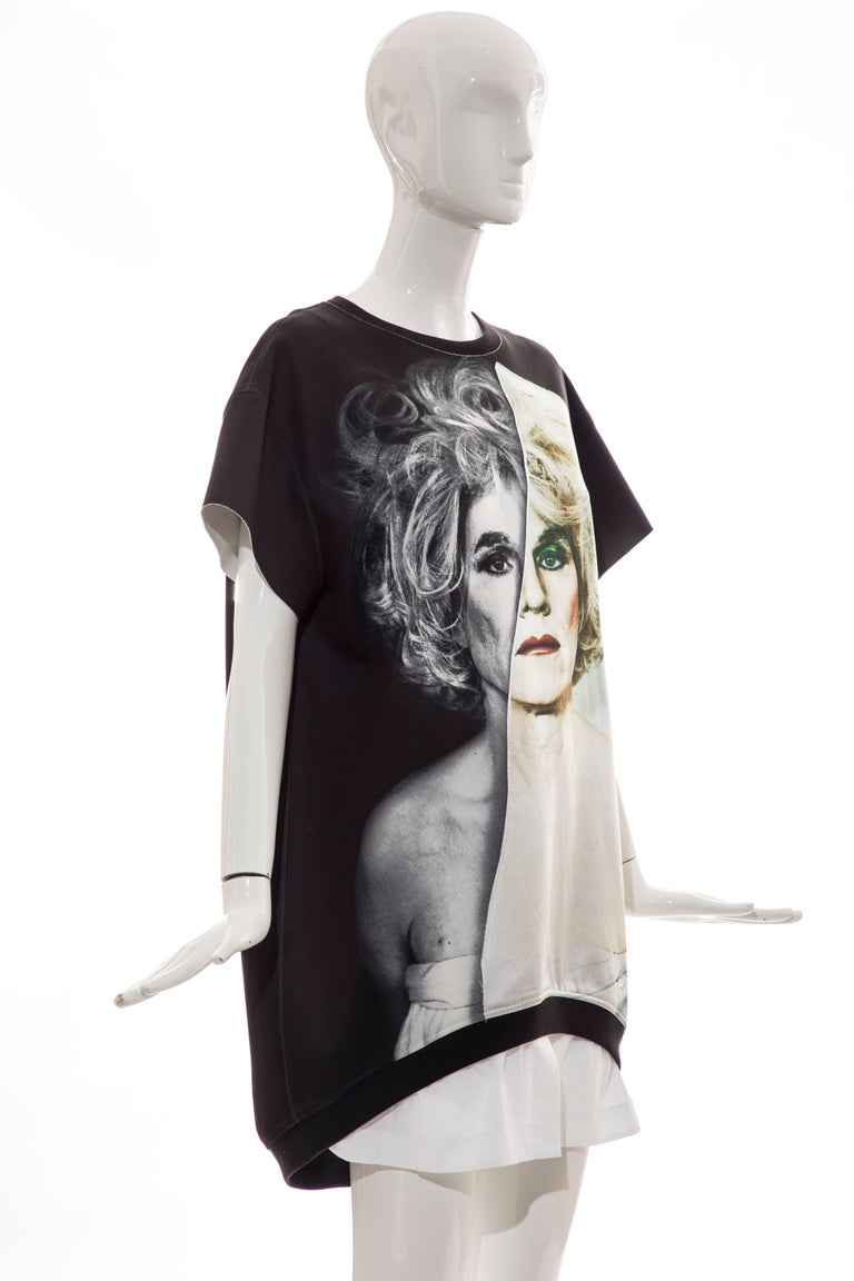 Christopher Makos For Ports 1961 Andy Warhol Altered Images Black Mini Dress,  In New Condition For Sale In Cincinnati, OH