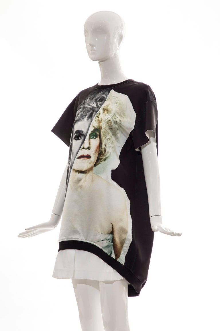 Christopher Makos For Ports 1961 Andy Warhol Altered Images Black Mini Dress,  For Sale 5