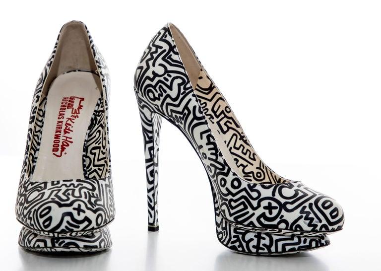 Nicholas Kirkwood Keith Haring Leather Printed Platform Pump, Spring 2011 For Sale 7