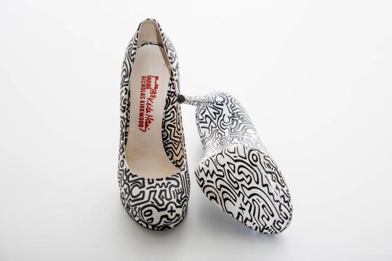 Nicholas Kirkwood Keith Haring Leather Printed Platform Pump, Spring 2011 For Sale 8