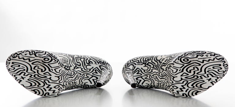 Nicholas Kirkwood Keith Haring Leather Printed Platform Pump, Spring 2011 For Sale 9