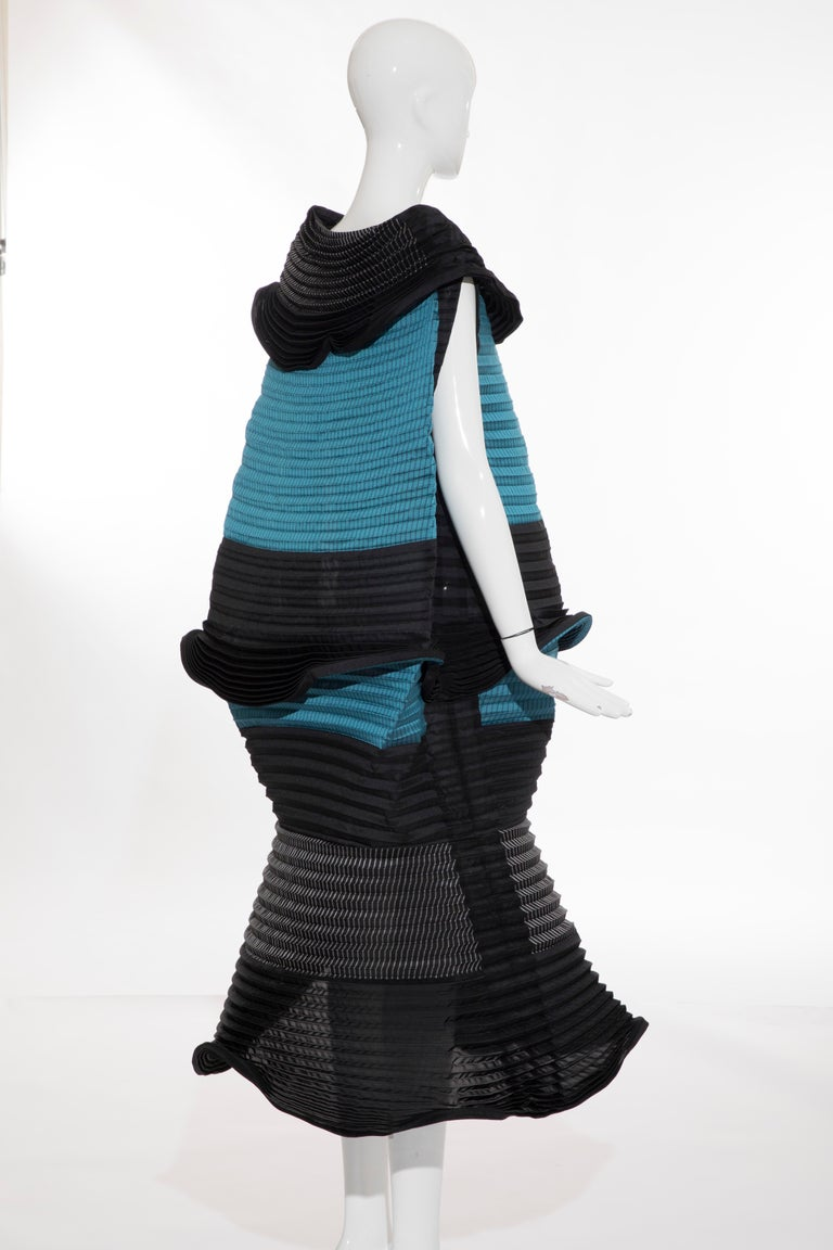 Women's Issey Miyake Runway Pleated Dress, Fall 2014 For Sale