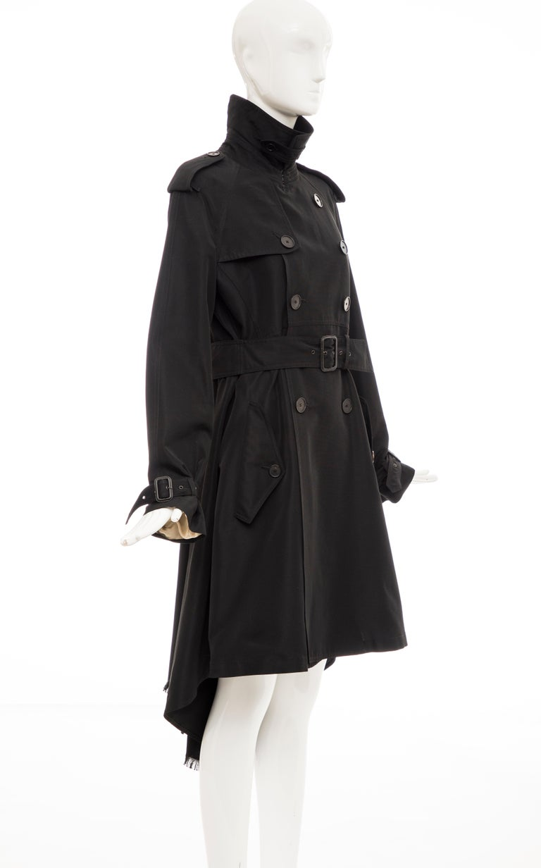 Jean Paul Gaultier Runway Black Double Breasted Trench Coat, Fall 2007 In Excellent Condition For Sale In Cincinnati, OH