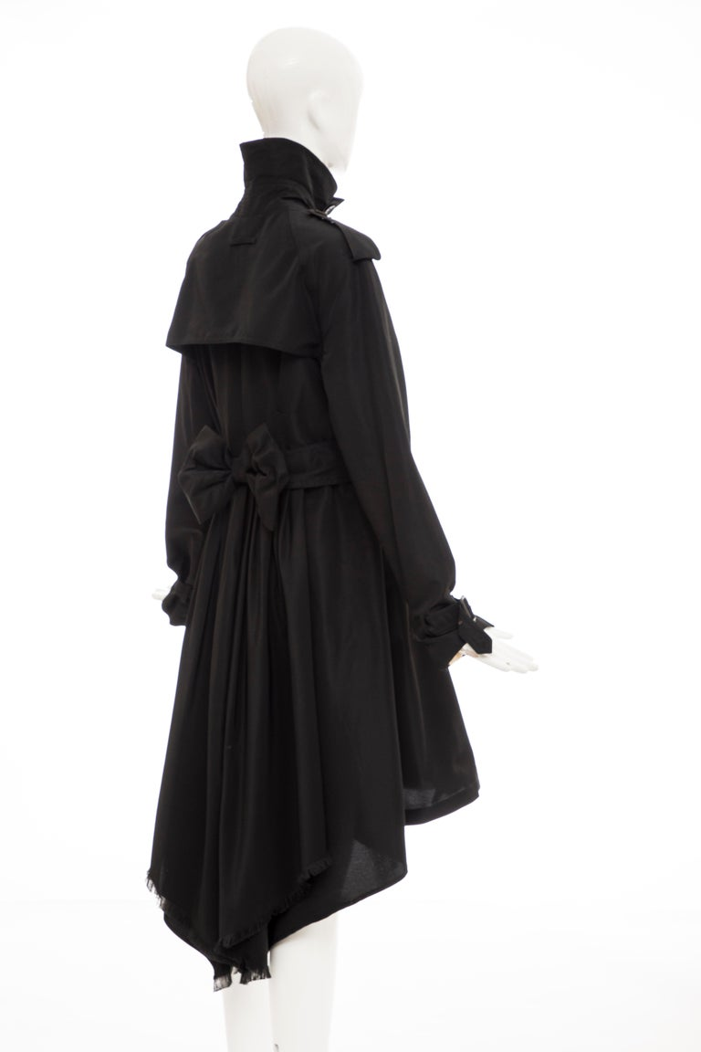 Jean Paul Gaultier Runway Black Double Breasted Trench Coat, Fall 2007 For Sale 1