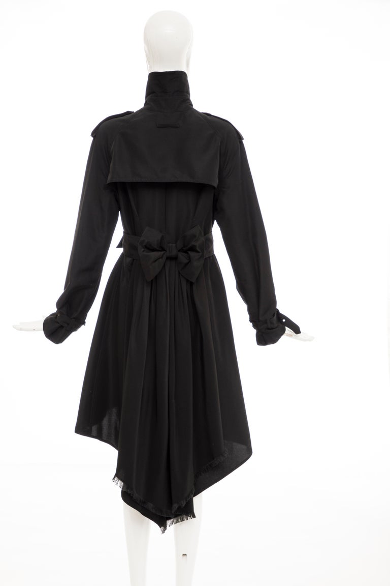 Jean Paul Gaultier Runway Black Double Breasted Trench Coat, Fall 2007 For Sale 2