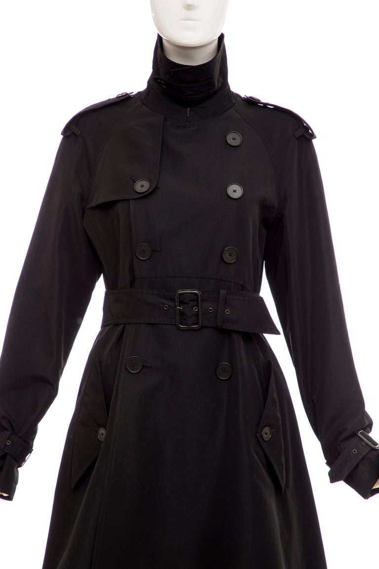 Jean Paul Gaultier Runway Black Double Breasted Trench Coat, Fall 2007 For Sale 3