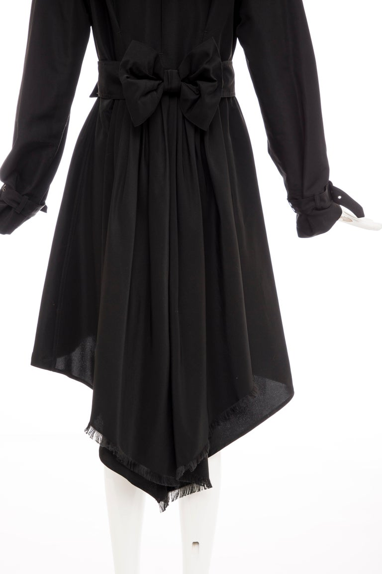 Jean Paul Gaultier Runway Black Double Breasted Trench Coat, Fall 2007 For Sale 4