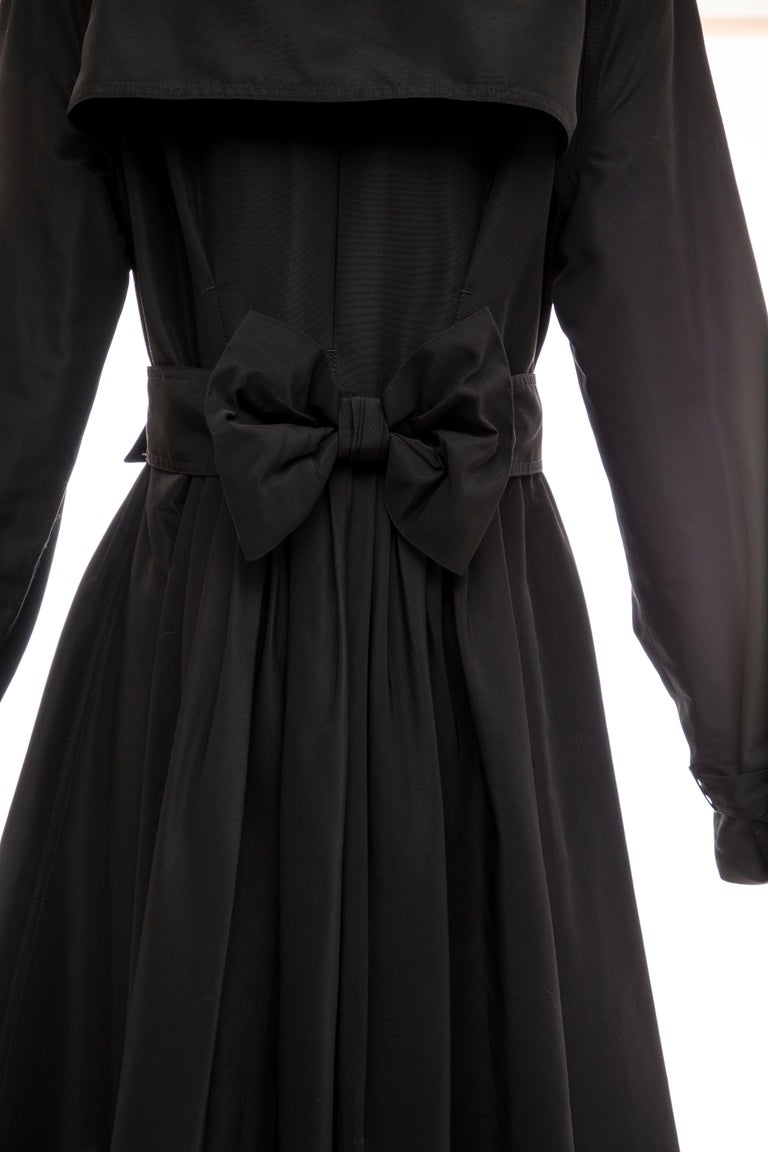 Jean Paul Gaultier Runway Black Double Breasted Trench Coat, Fall 2007 For Sale 5