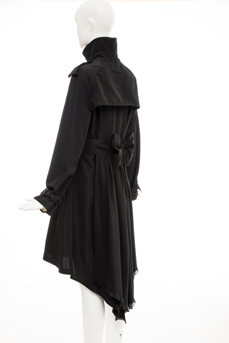 Jean Paul Gaultier Runway Black Double Breasted Trench Coat, Fall 2007 For Sale 6