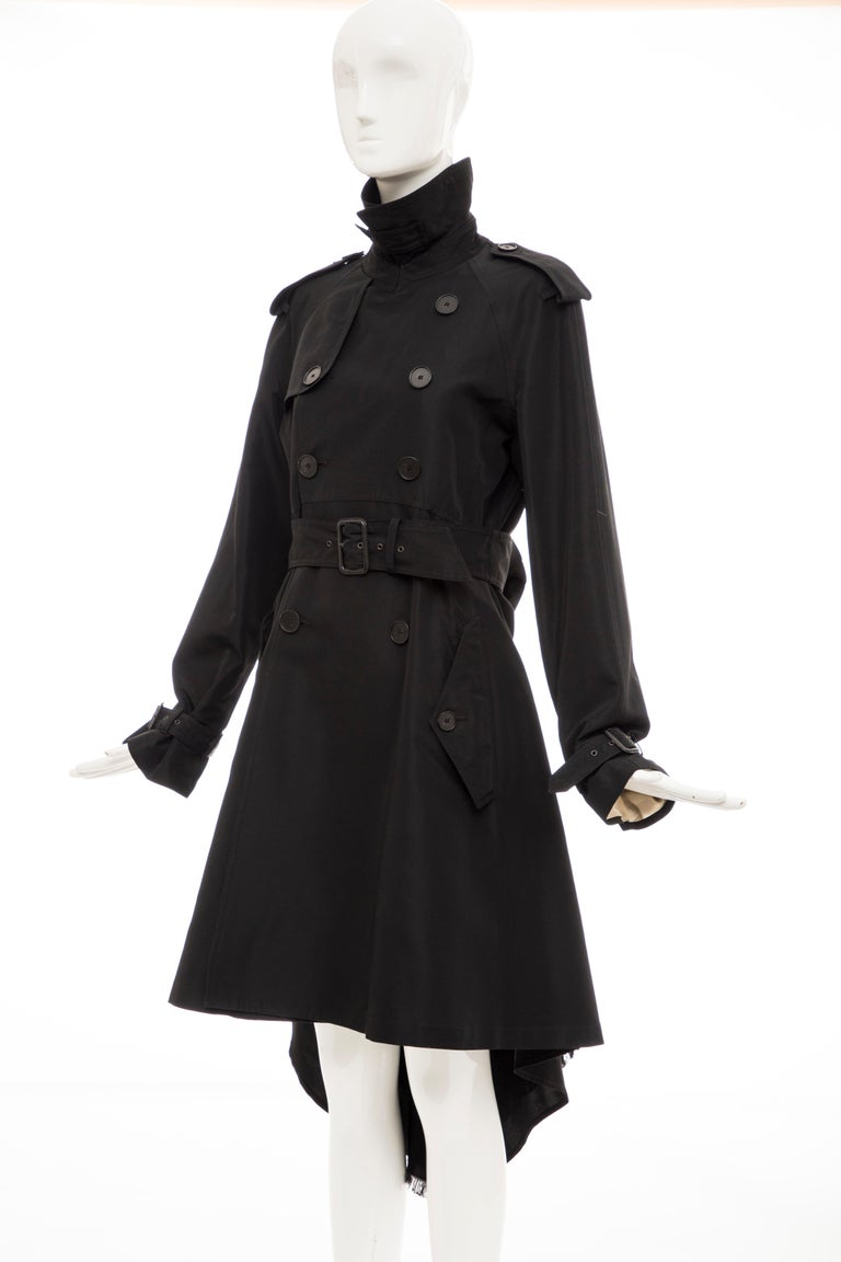 Jean Paul Gaultier Runway Black Double Breasted Trench Coat, Fall 2007 For Sale 9