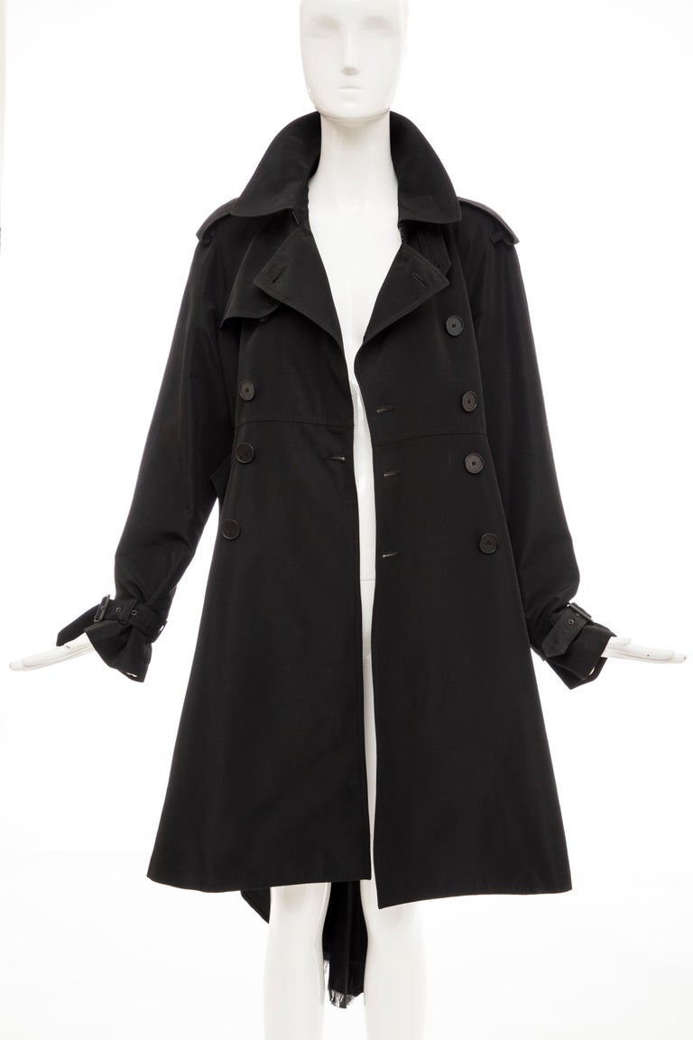 Jean Paul Gaultier Runway Black Double Breasted Trench Coat, Fall 2007 For Sale 10