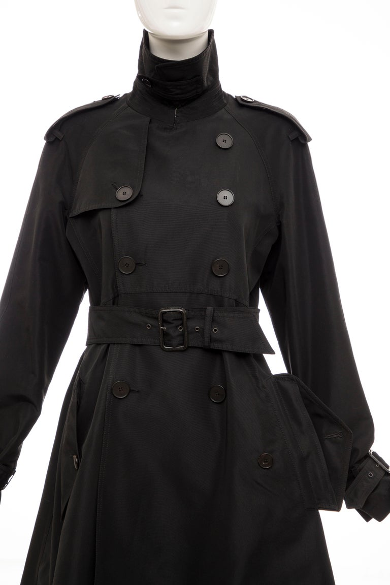 Jean Paul Gaultier Runway Black Double Breasted Trench Coat, Fall 2007 For Sale 14