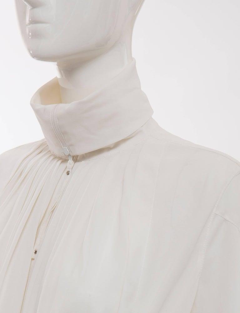 Jean Paul Gaultier White Nylon Zip Front Jacket, Circa 1990s For Sale 1
