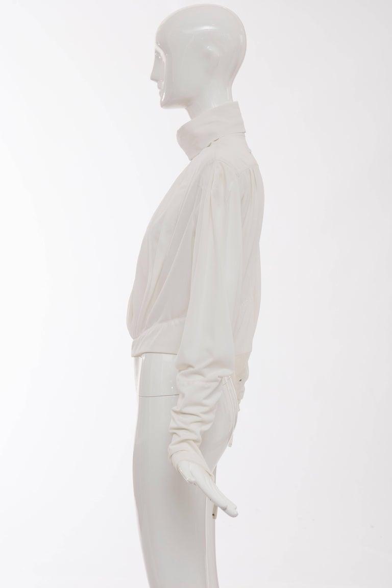 Jean Paul Gaultier White Nylon Zip Front Jacket, Circa 1990s For Sale 3