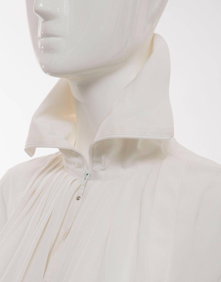 Jean Paul Gaultier White Nylon Zip Front Jacket, Circa 1990s For Sale 4