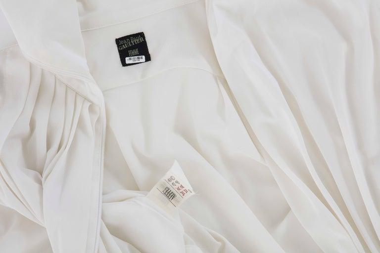 Jean Paul Gaultier White Nylon Zip Front Jacket, Circa 1990s For Sale 5