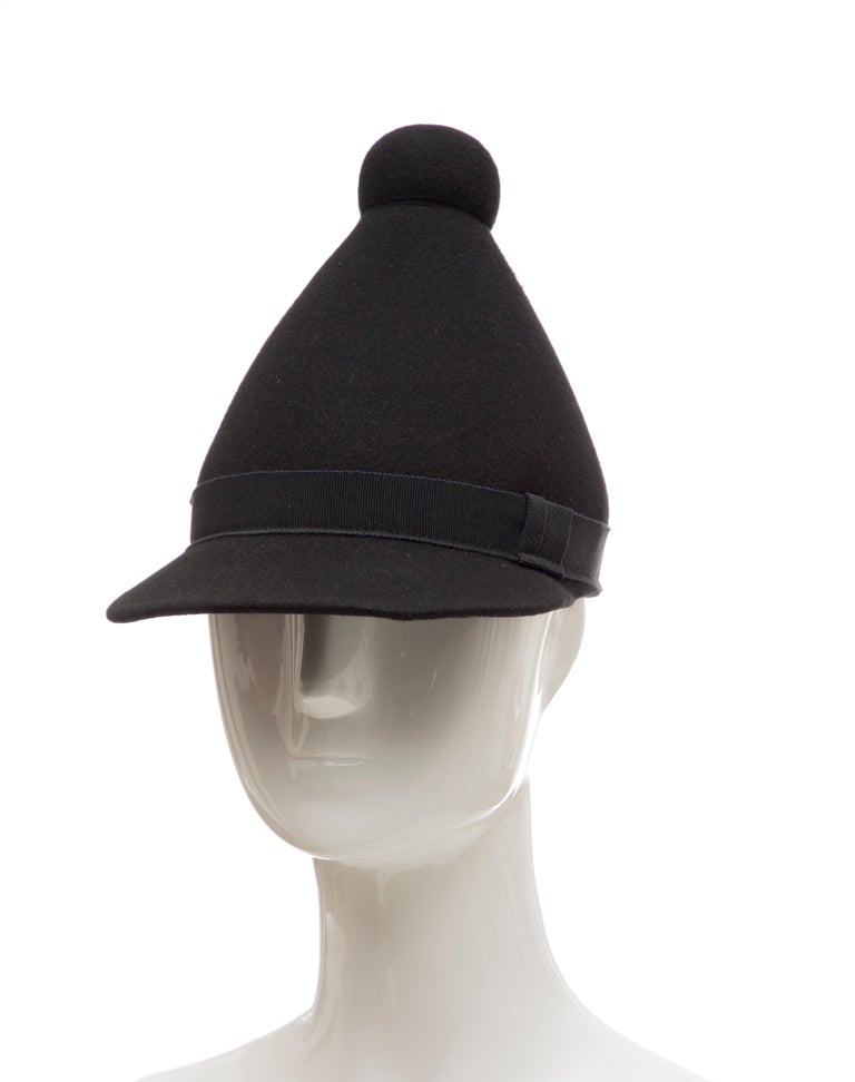 Henrik Vibskov Men's Runway The Eat Black Wool Felt Cone Hat, Fall 2011 For Sale 7