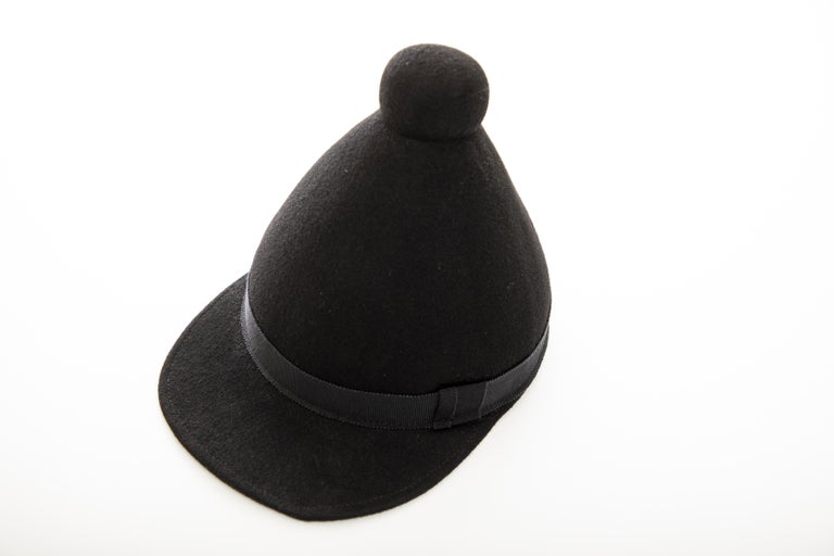 Henrik Vibskov Men's Runway The Eat Black Wool Felt Cone Hat, Fall 2011 For Sale 8