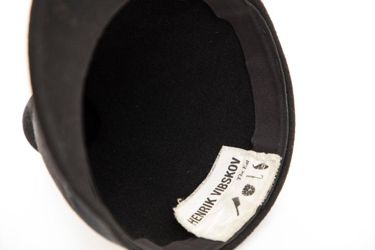 Henrik Vibskov Men's Runway The Eat Black Wool Felt Cone Hat, Fall 2011 For Sale 9