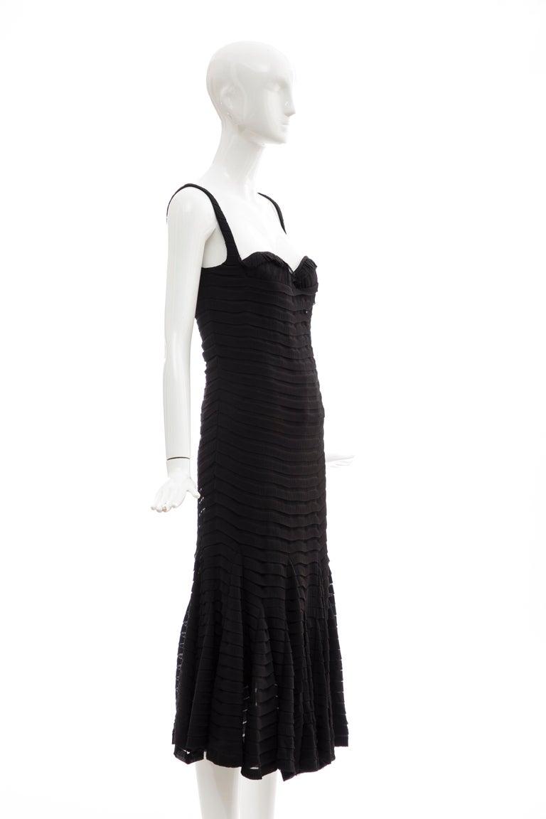 Women's Alexander McQueen Black Silk Chiffon Evening Dress, Fall 2005  For Sale