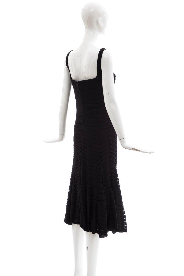 Alexander McQueen Black Silk Chiffon Evening Dress, Fall 2005  For Sale 1