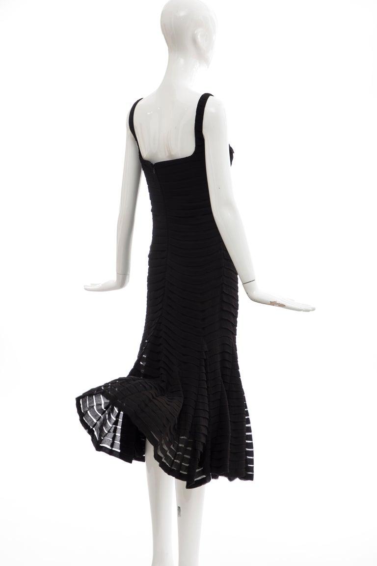 Alexander McQueen Black Silk Chiffon Evening Dress, Fall 2005  For Sale 2