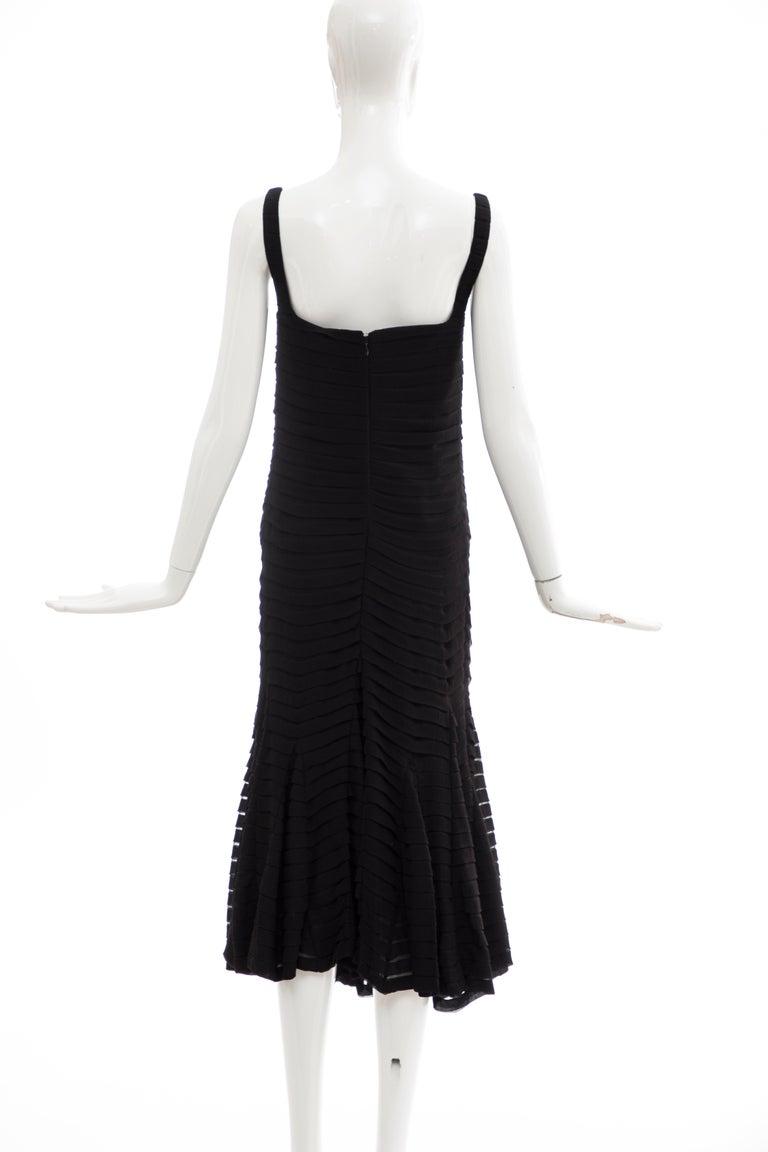 Alexander McQueen Black Silk Chiffon Evening Dress, Fall 2005  For Sale 3