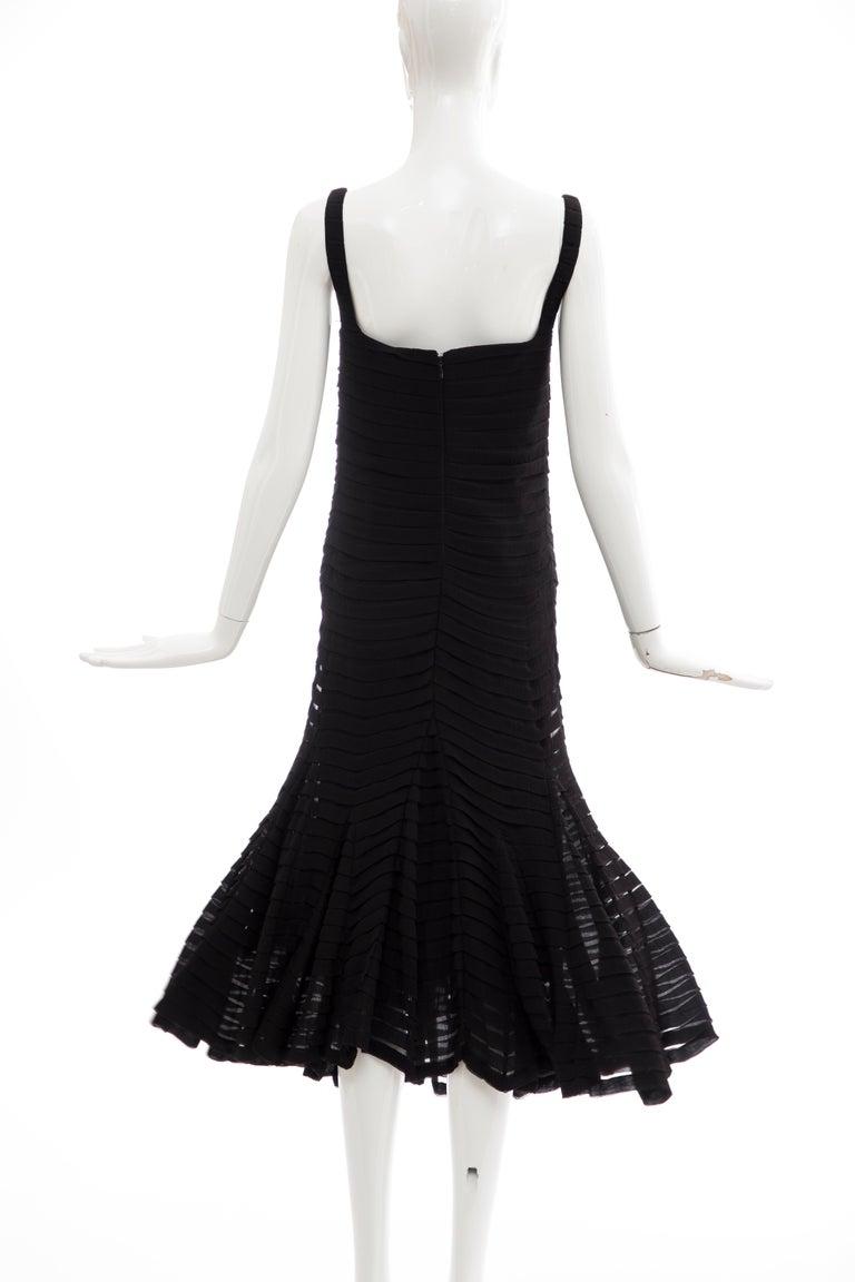 Alexander McQueen Black Silk Chiffon Evening Dress, Fall 2005  For Sale 4