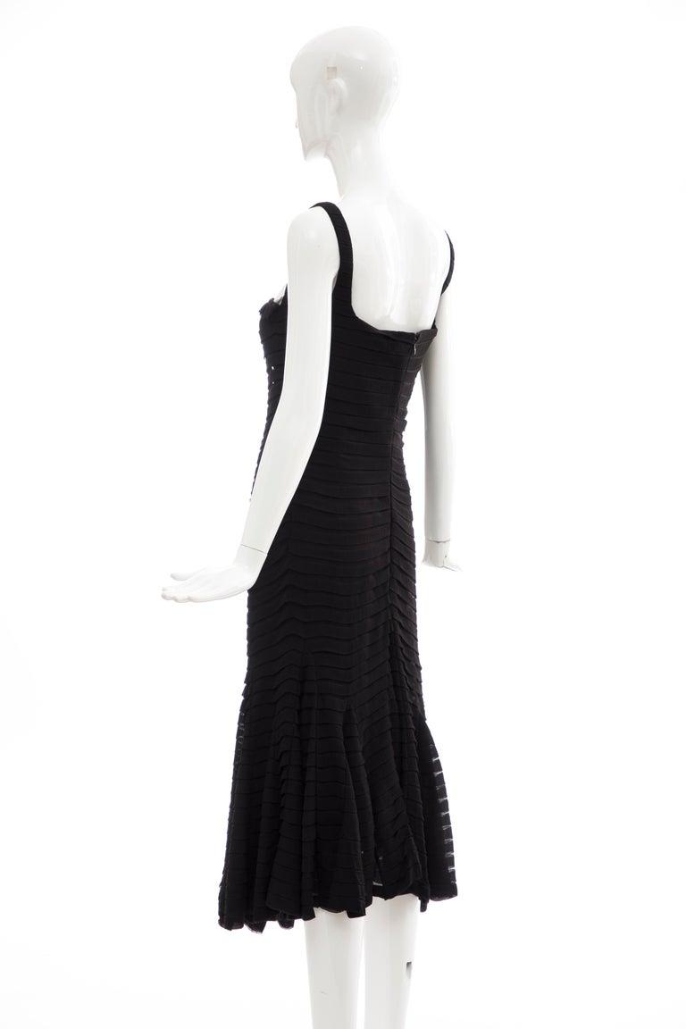 Alexander McQueen Black Silk Chiffon Evening Dress, Fall 2005  For Sale 5