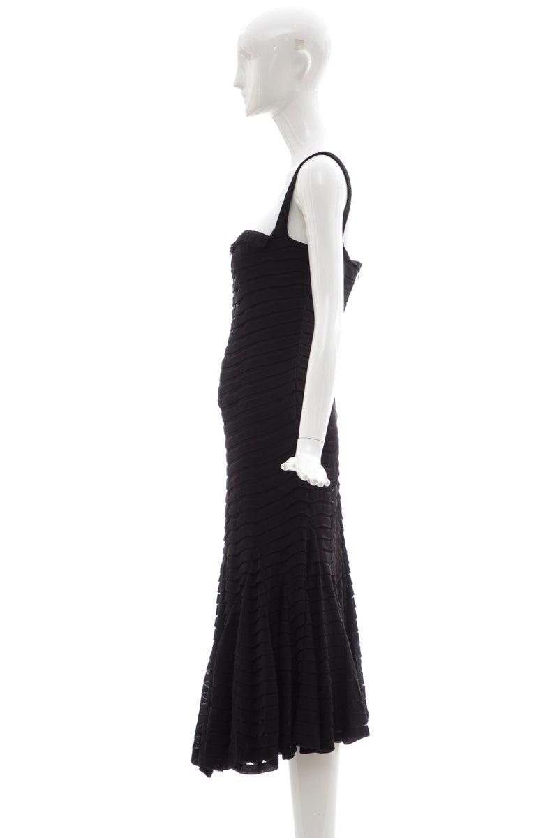 Alexander McQueen Black Silk Chiffon Evening Dress, Fall 2005  For Sale 6