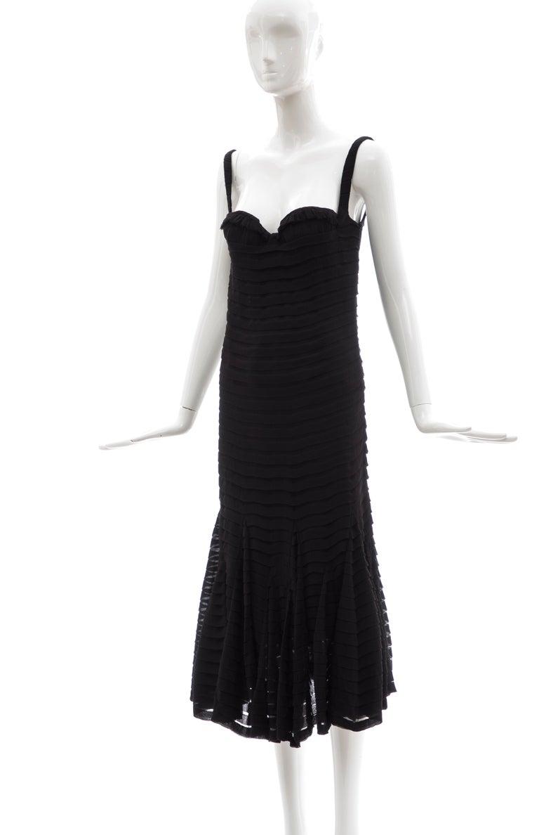 Alexander McQueen Black Silk Chiffon Evening Dress, Fall 2005  For Sale 7