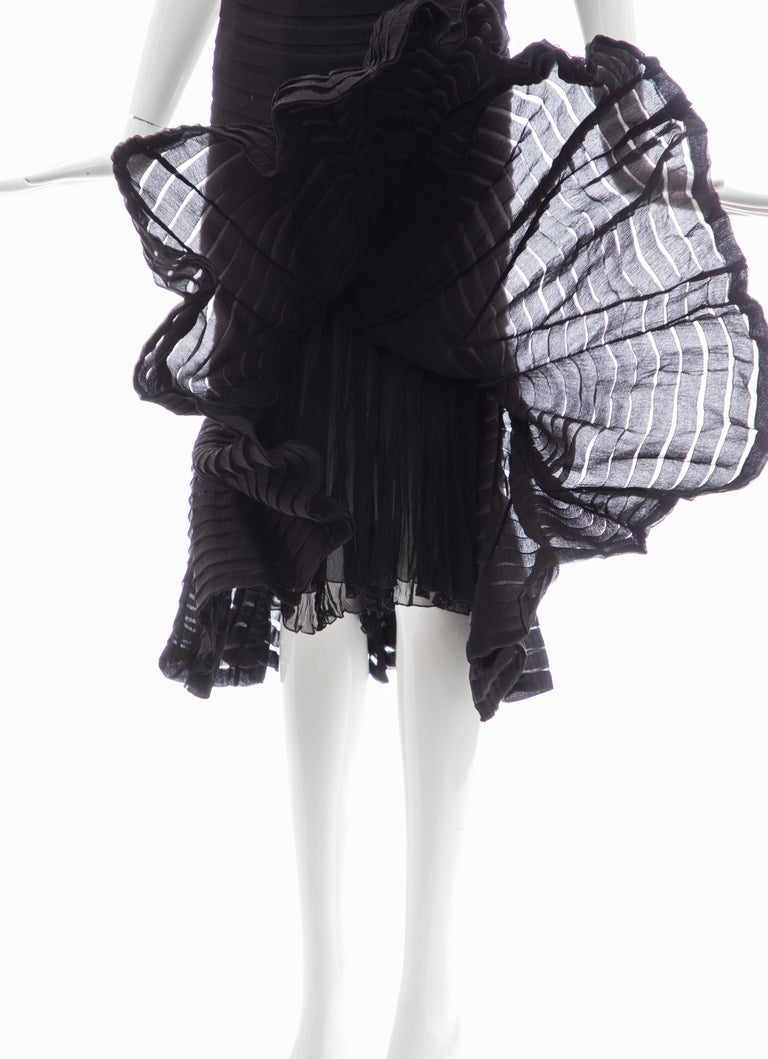 Alexander McQueen Black Silk Chiffon Evening Dress, Fall 2005  For Sale 8