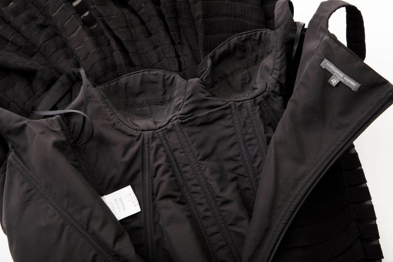 Alexander McQueen Black Silk Chiffon Evening Dress, Fall 2005  For Sale 9