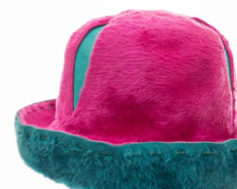 Women's Yves Saint Laurent Faux Fur Cloche Hat, Circa: 1960's For Sale