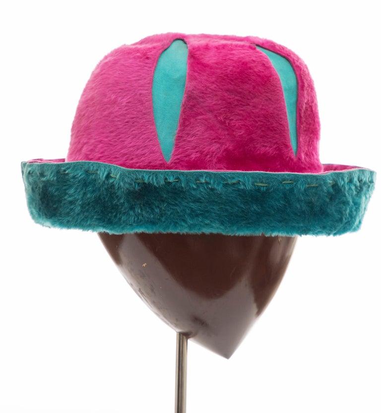 Yves Saint Laurent Faux Fur Cloche Hat, Circa: 1960's For Sale 1