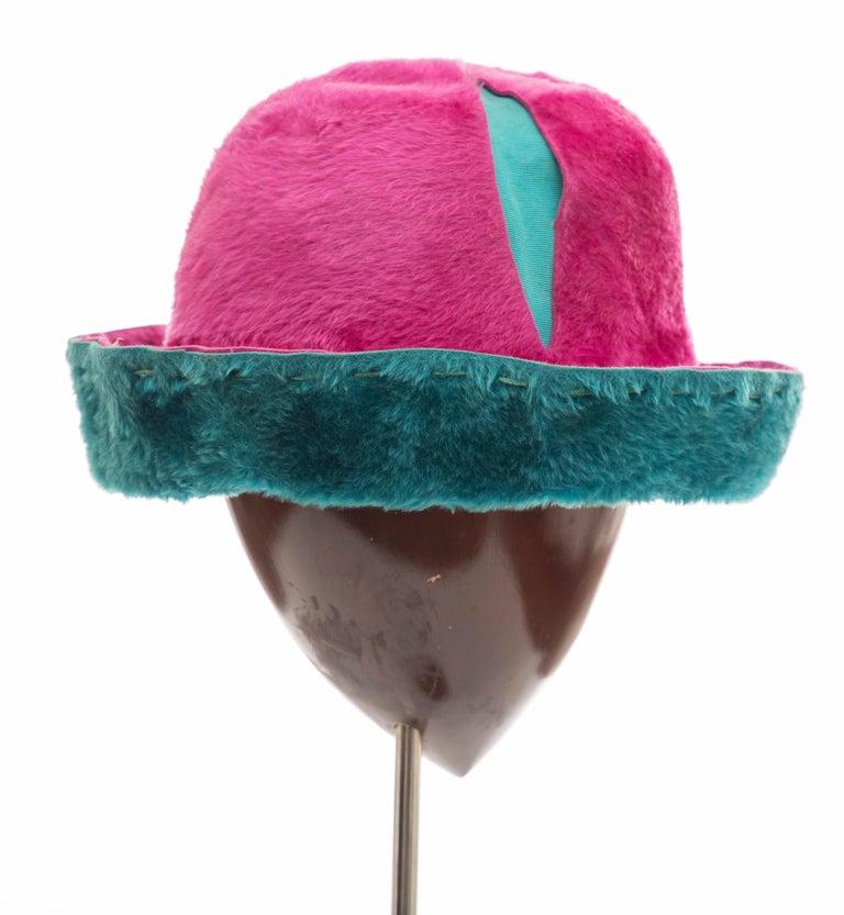 Yves Saint Laurent Faux Fur Cloche Hat, Circa: 1960's For Sale 2