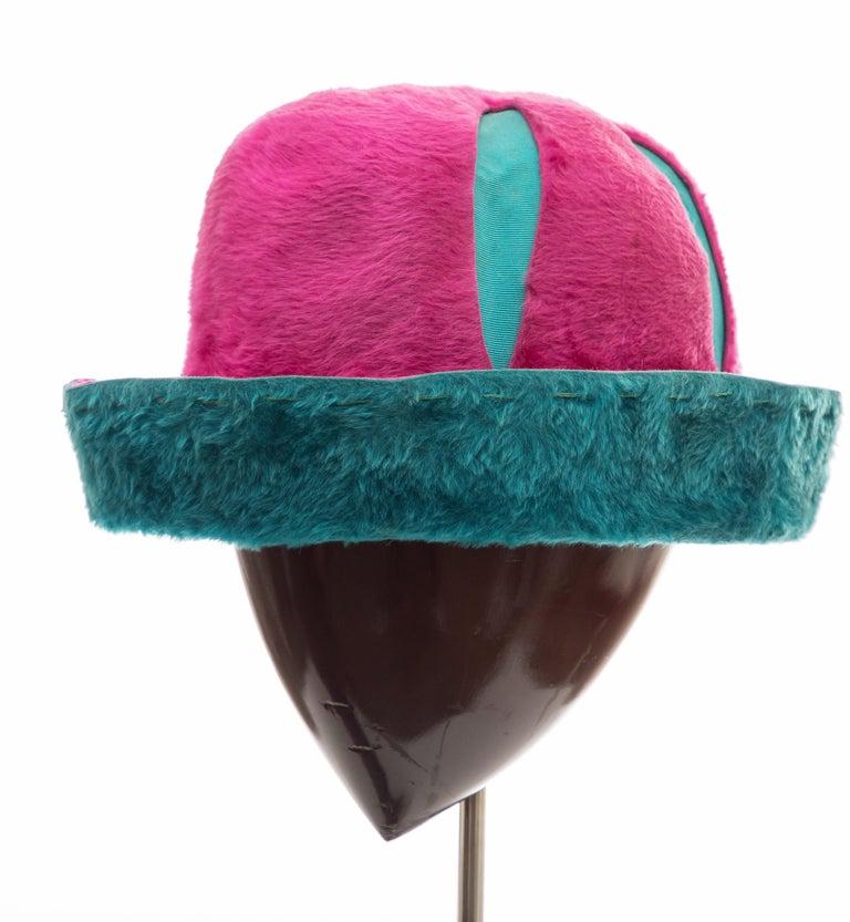 Yves Saint Laurent Faux Fur Cloche Hat, Circa: 1960's For Sale 5