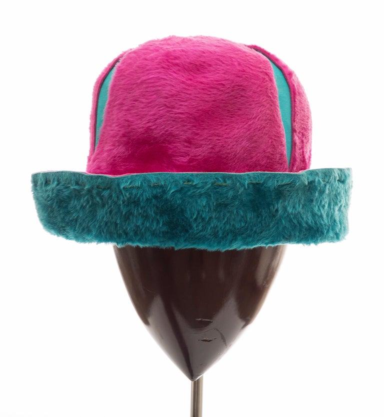 Yves Saint Laurent Faux Fur Cloche Hat, Circa: 1960's For Sale 6