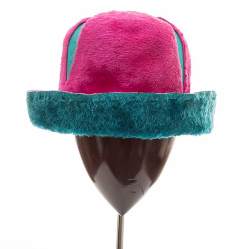 Yves Saint Laurent Faux Fur Cloche Hat, Circa: 1960's For Sale 7