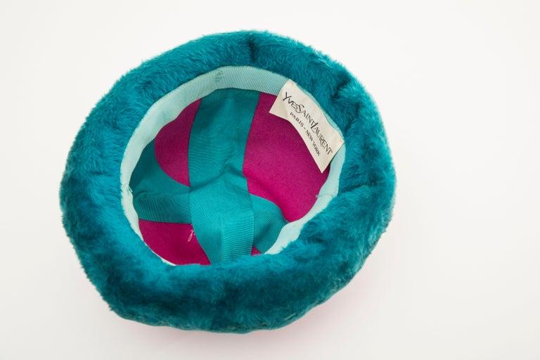 Yves Saint Laurent Faux Fur Cloche Hat, Circa: 1960's For Sale 8