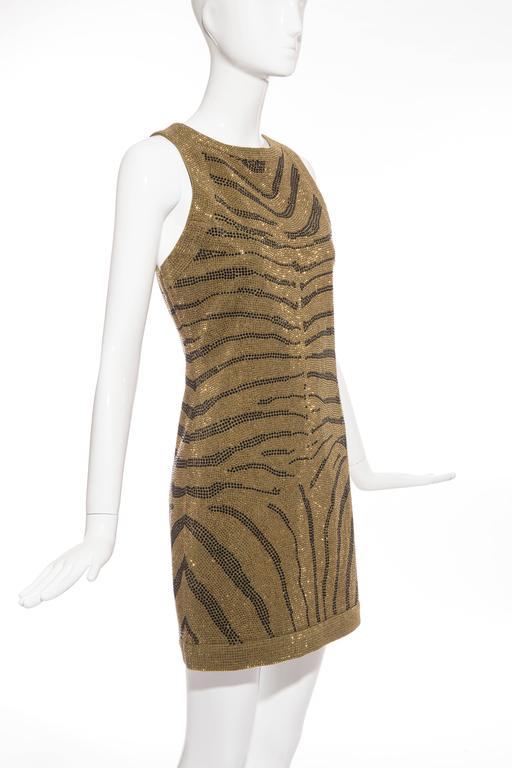 Balmain Sleeveless Dress With Crystal Embellished Zebra Print, Pre-Fall 2014 For Sale 3