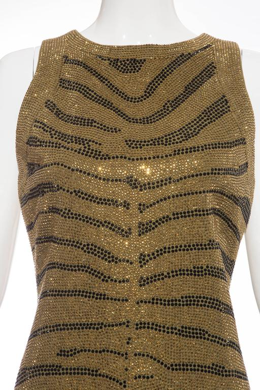 Balmain Sleeveless Dress With Crystal Embellished Zebra Print, Pre-Fall 2014 For Sale 1