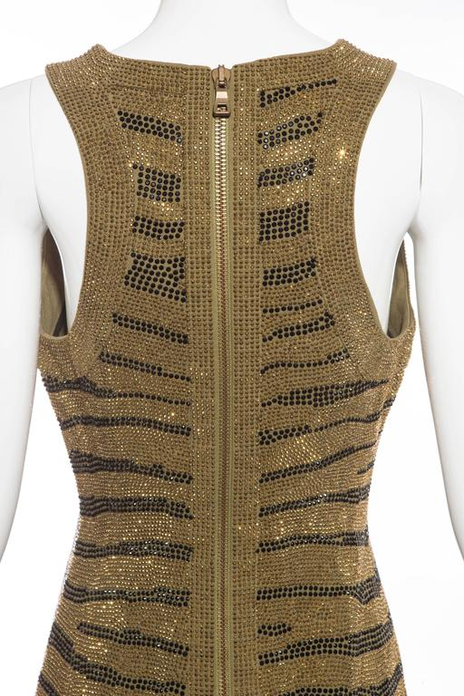 Balmain Sleeveless Dress With Crystal Embellished Zebra Print, Pre-Fall 2014 For Sale 4