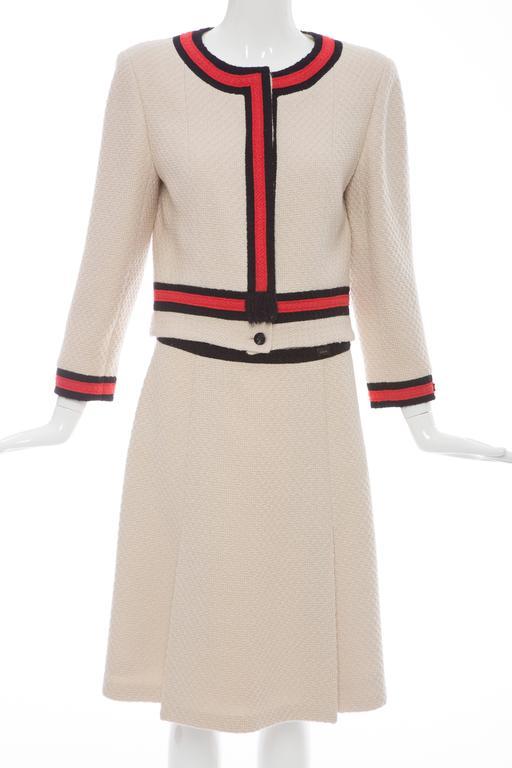 Exhibition Shell Jacket : Chanel skirt suit exhibited quot karl lagerfeld modemethode