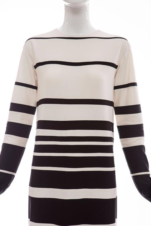 Marc Jacobs Runway Silk Crew Neck Striped Maxi Dress, Spring 2013 For Sale 1