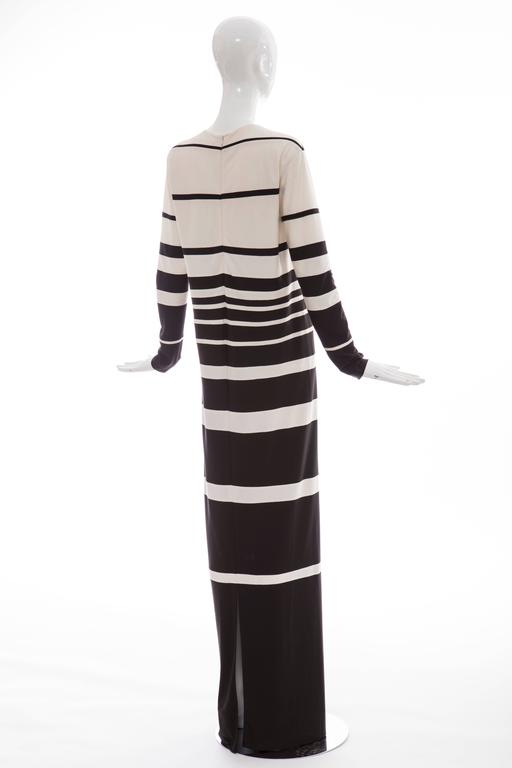 Marc Jacobs Silk Crew Neck Striped Maxi Dress, Spring - Summer 2013 For Sale 2