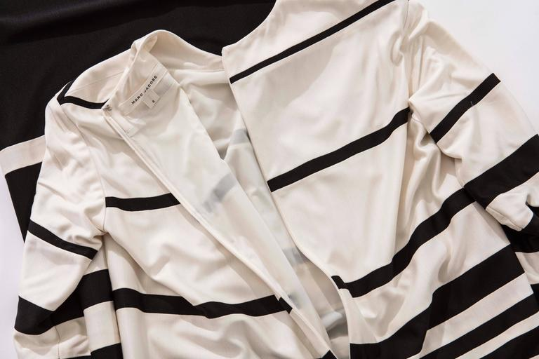 Marc Jacobs Runway Silk Crew Neck Striped Maxi Dress, Spring 2013 For Sale 4