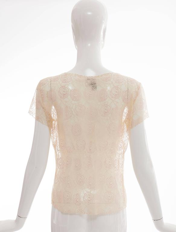 Chanel Lace Top With Embellished Ice Cream Applique, Cruise 2004 In Excellent Condition For Sale In Cincinnati, OH